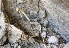 Antique mummies in Alcaya, Bolivia Stock Photo