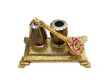 Antique Music. Closeup of small antique music instruments royalty free stock photos