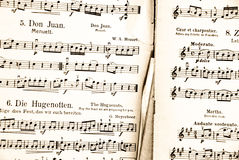 Antique music score Royalty Free Stock Image