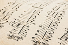 Antique music score. Royalty Free Stock Photo