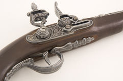 Antique musket replica. Replica of an old pistol - musket Stock Photo