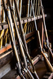 Antique muskets in the Armory. These are antique muskets found in the armory at Fort Ross, California Stock Photography