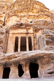 Antique Nabatean Temple in Little Petra Royalty Free Stock Image