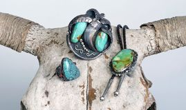 Antique Navajo Jewelry. Royalty Free Stock Image
