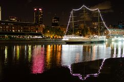 Antique navy ship functioning as museum in Buenos Aires royalty free stock photo