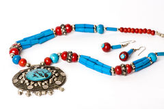 Antique Necklace with earrings  Stock Photography