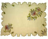 Antique needlepoint Stock Photo