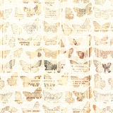 Antique newspaper butterflies Stock Image