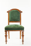 Antique nineteenth century Victorian fruitwood library chair Stock Photography