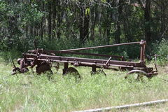 Antique non-motorized farm seeder Stock Photos