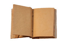 Antique notepad open on the white background Stock Images