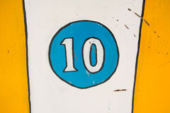 Antique Number 10 Stock Image