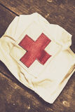 Antique nurses hat with red cross emblem Royalty Free Stock Photos