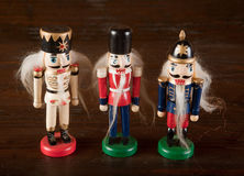 Antique nutcracker soldiers Royalty Free Stock Image