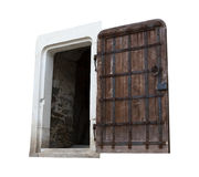 Antique Oak Doors Royalty Free Stock Photos