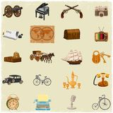 Antique Object. Collection in vintage vector style Royalty Free Stock Images