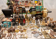 Antique objects. On the garbage market stock photo