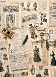 Antique office supplies, old letters, writing tools, vintage fas Royalty Free Stock Photos