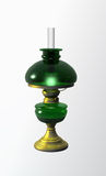 Antique oil lamp lit Royalty Free Stock Images