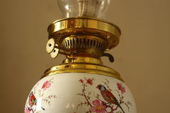 Antique oil lamp A Royalty Free Stock Image