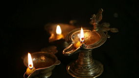 Antique Oil lamps stock footage