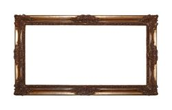 Antique golden picture or photo frame Stock Images
