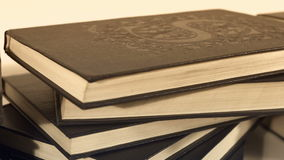 Antique old books stock footage