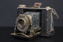 Antique Old Camera. Studio image Royalty Free Stock Photos