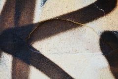 Wall background, black white gray graffiti in Venice, Italy Royalty Free Stock Photo
