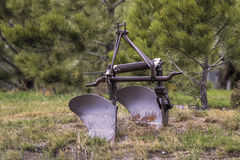 Antique Old Farm Plow Stock Photography