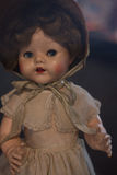 Antique old fashioned doll close-up Stock Photos