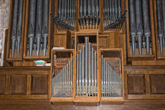 Antique old german church organ Stock Photos