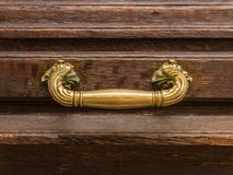 Antique old gothic door handle Royalty Free Stock Photography