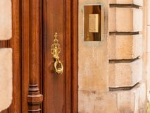 Antique old gothic door handle Royalty Free Stock Photo