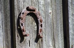 Antique old horse shoe Stock Photos