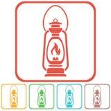 Antique Old Kerosene Lamp isolated. Retro design Royalty Free Stock Images