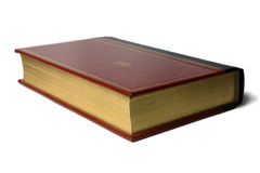 Antique old leather bound book Royalty Free Stock Photography