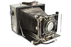 Antique Old photo Camera royalty free stock photo