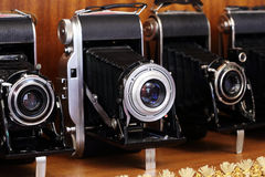Antique Old photo Camera Stock Images