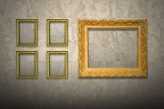 Antique old picture frame Royalty Free Stock Photos