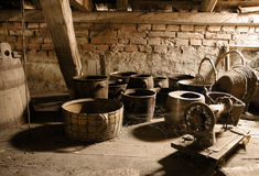 Antique Old Pots Royalty Free Stock Photos