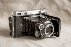 Antique old Soviet camera stock photos