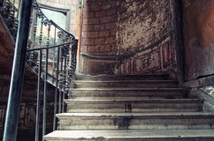 Antique old stairs in old Tbilisi Stock Photo