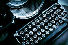 Antique Old Typewriter with Skewed Letters Royalty Free Stock Photos