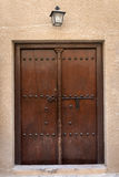 Antique old wooden door Stock Images