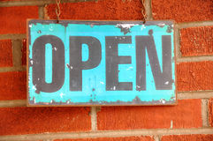 Antique Open Sign royalty free stock image