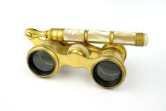 Antique opera glasses Royalty Free Stock Images