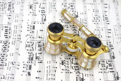 Antique opera glasses Stock Image