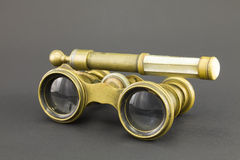 Antique opera glasses. Royalty Free Stock Photography
