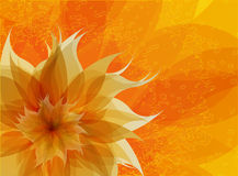 Antique orange background with flower.  Royalty Free Stock Images